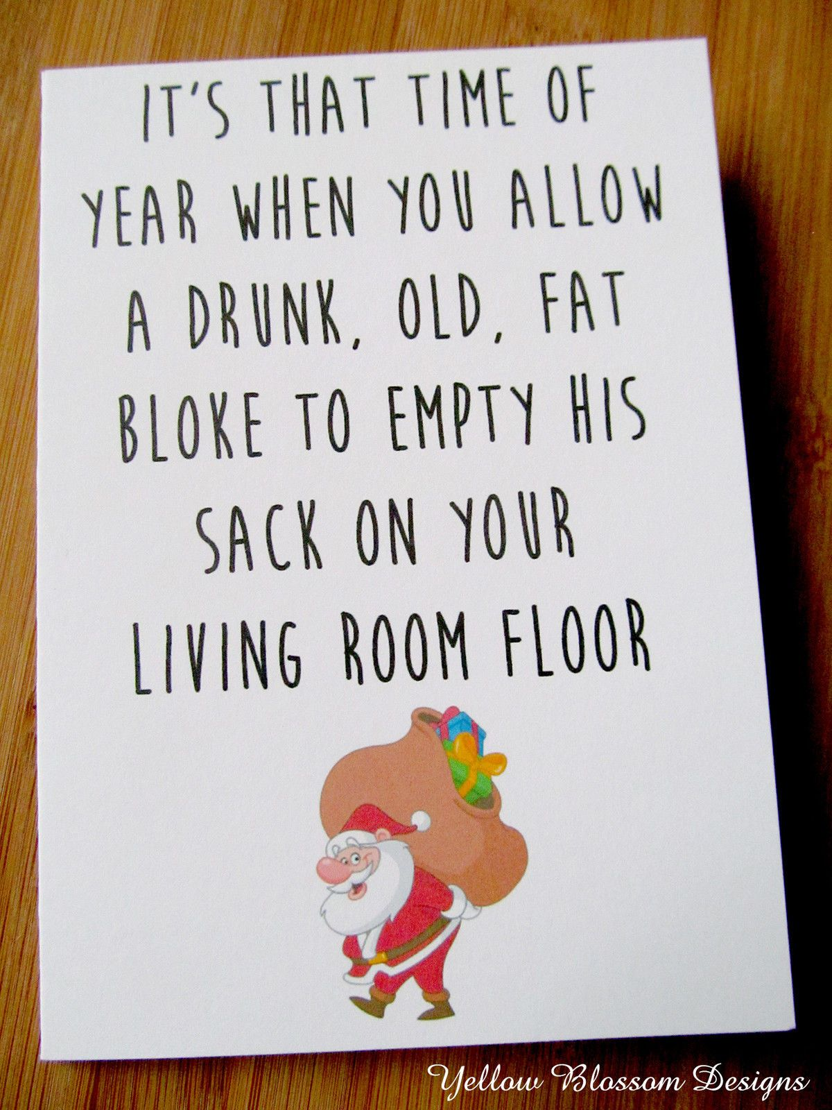 Christmas Card Greetings Card Comedy Naughty Funny Novelty Blunt ...
