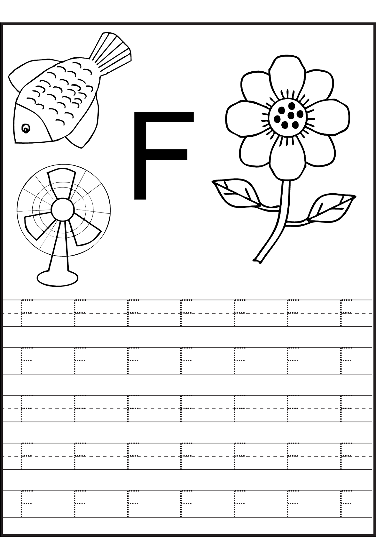 Worksheets Free Printable Letter Tracing Worksheets trace the letters letter f learning to write pinterest f