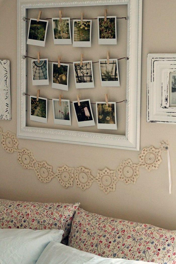 fotos familiares, preciosa manera de decorar el dormitorio, marco de ...