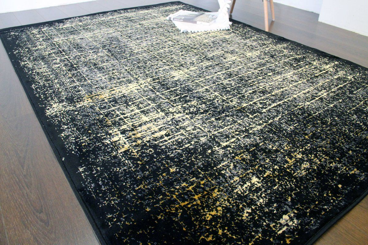Lacey Black Rug In 2019 Black Gold Bedroom Gold Bedroom Black Rug