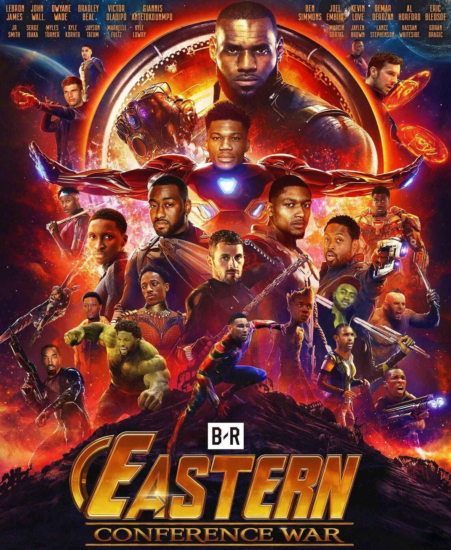 The NBA Avengers NBA MOVIE STAR CrossOver Avengers