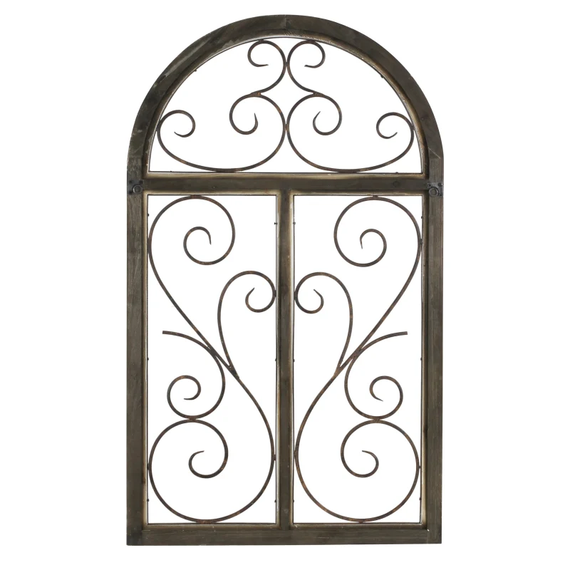 Aspire Home Accents 5384 Build Com In 2020 Arched Wall Decor Wrought Iron Wall Decor Iron Wall Decor
