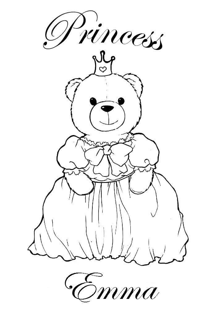 Coloring Sheet With Name Emma Jpg 699 1032 Princess Coloring
