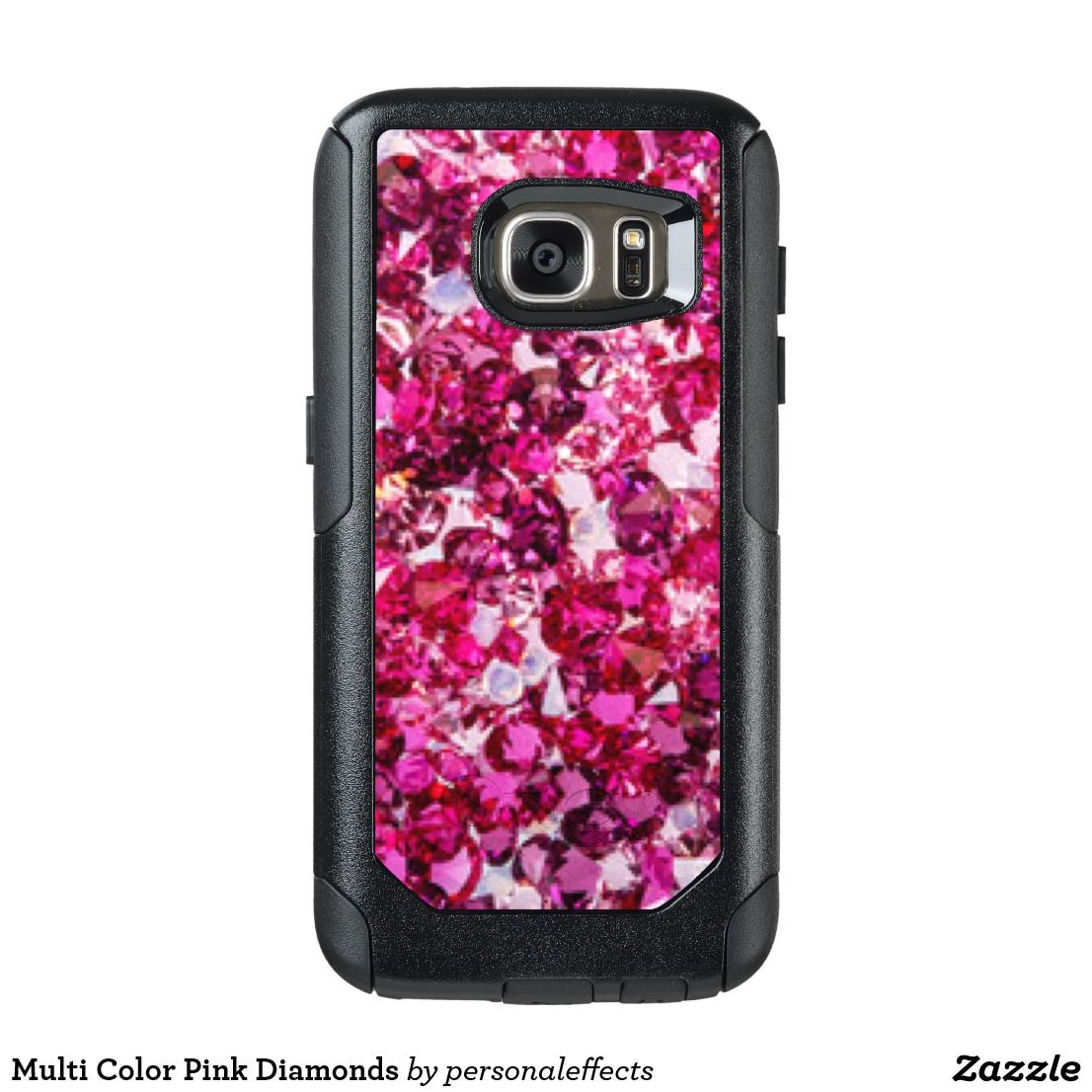 Multi Color Pink Diamonds OtterBox Samsung Galaxy S7 Case - glitter, glittery, blingy, bling, sparkle, sparkly, diamond, diamonds, jewel, jewels