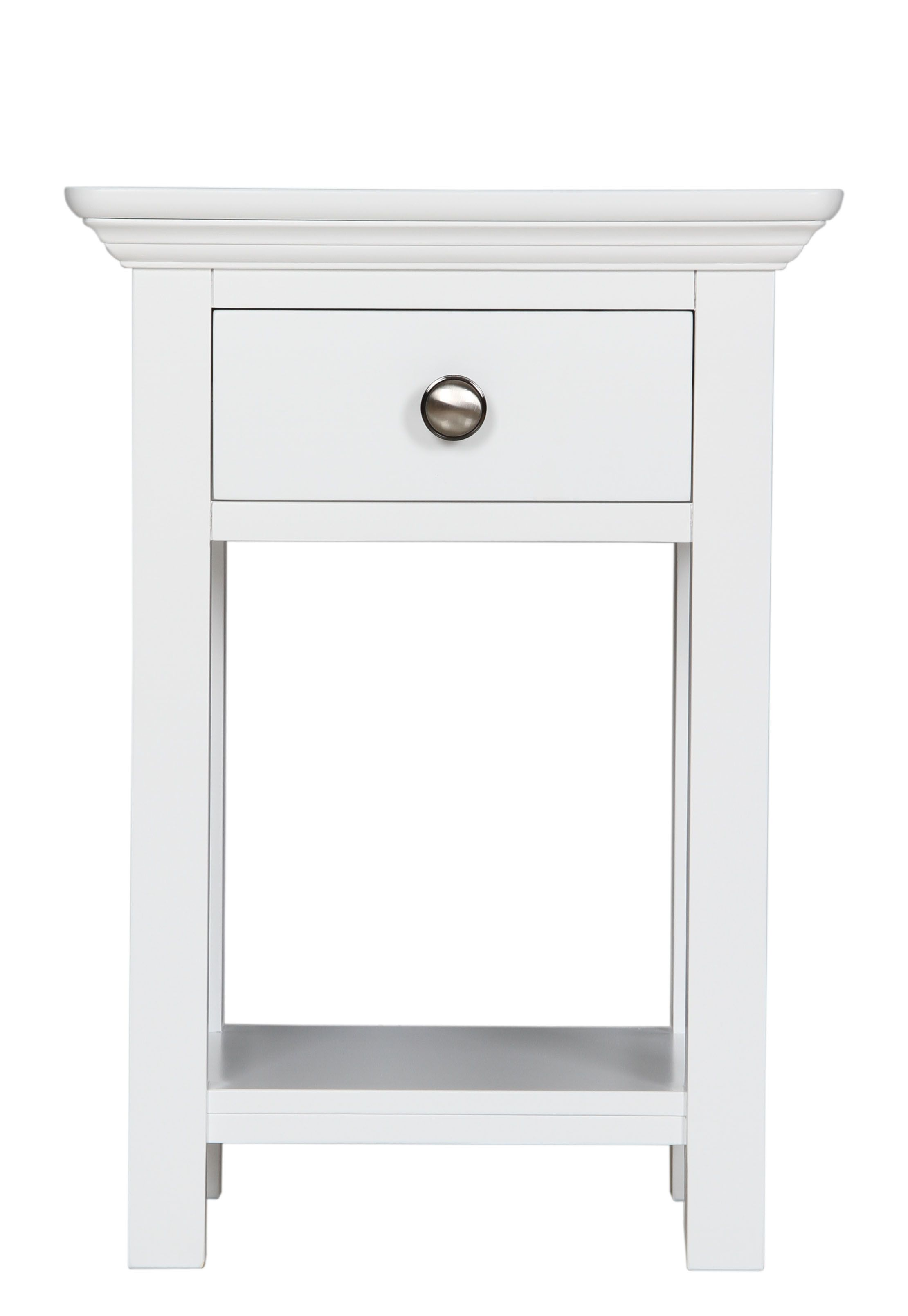 A Good Small Bedside Table With Drawers Should Be As Luxurious As Your Bed Darbylane In 2020 Bedside Table Design Small White Bedside Table Painted Bedroom Furniture