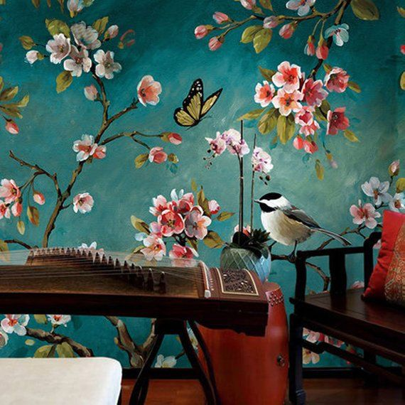 Dark Color Hunter/Blue/Grey Backgroud Wallpaper Wall