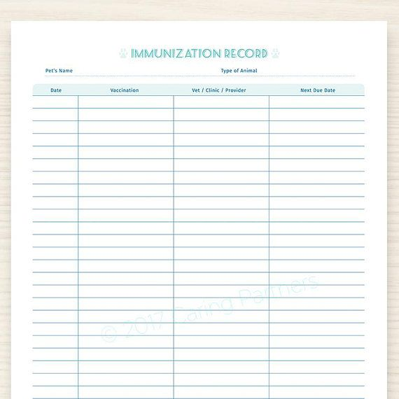 graphic regarding Dog Vaccination Record Printable Pdf known as Pin upon Products and solutions