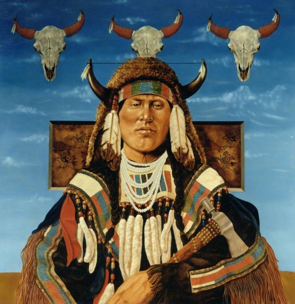 Native American Healing Herbs Plants: Native American Oil Paintings