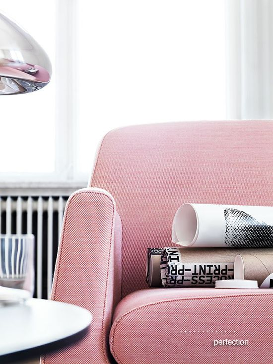 Pink Comfy Chair. #modern #decor #style