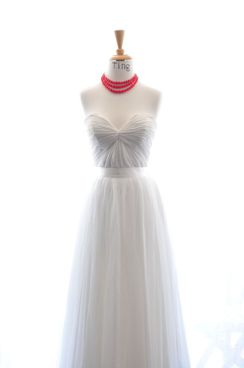Perfect beach wedding dress colors made to by tingbridal on etsy