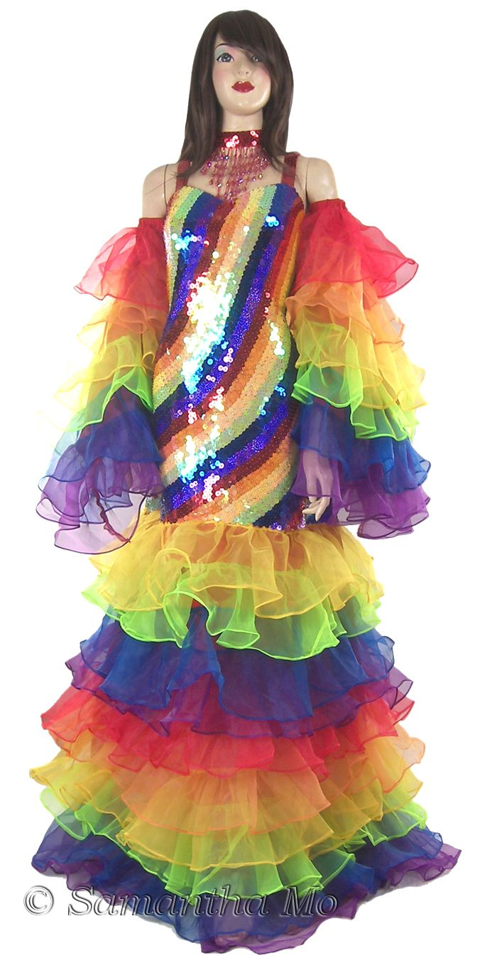 1bfc4b1b486 Sparkling Fully Sequined Gay Pride RAINBOW Gown TM7901 Sequin dresses