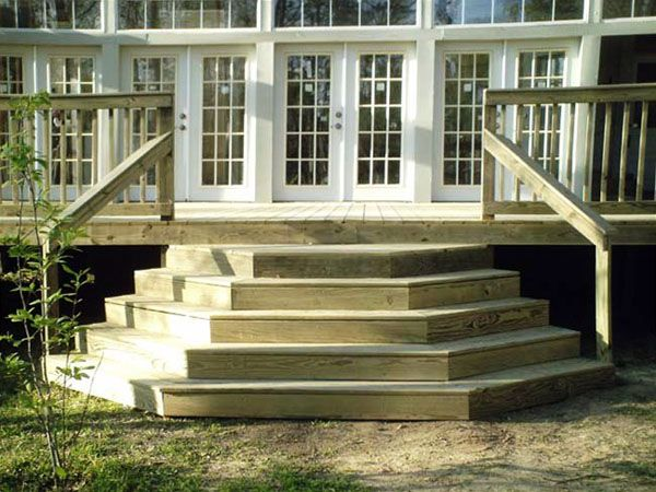 Best Angled Deck Stairs With A Wrap Around Angled Edge 640 x 480