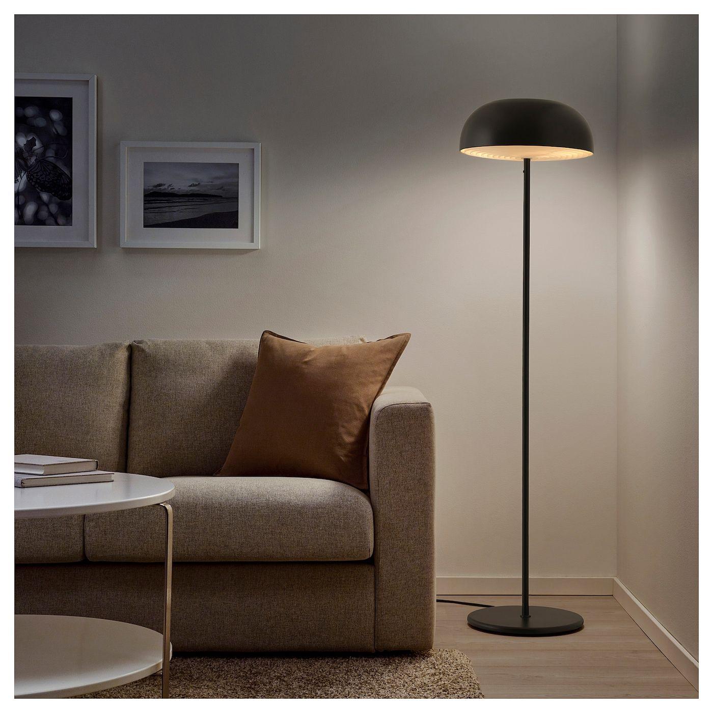 NYMÅNE Floor lamp anthracite IKEA   Golvlampa, Inredning