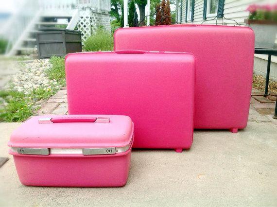 Vintage Samsonite Pink Luggage Set by ReDigIt on Etsy, $175.00 ...