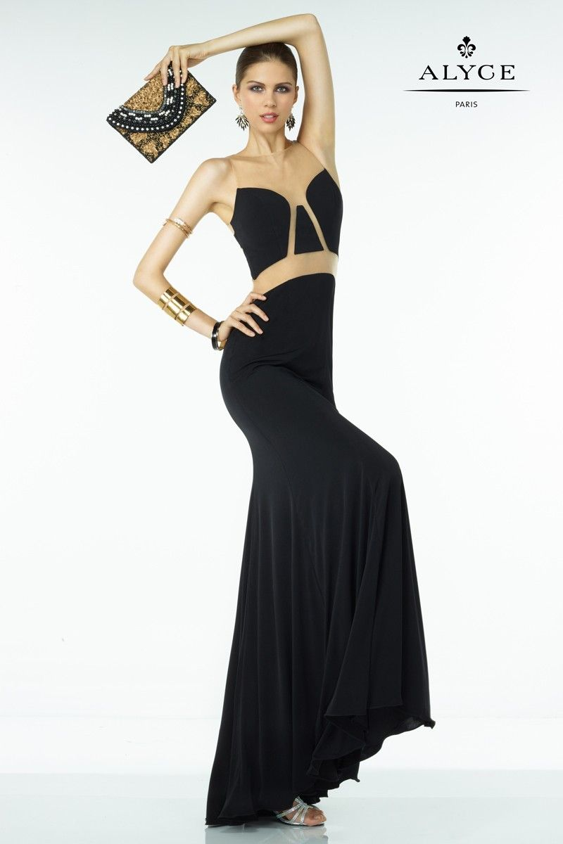 On sale the alyce paris b dazzle is a fitted prom dress that
