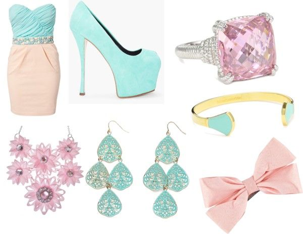 """Pastel Party"" by mela-daughter-of-hades ❤ liked on Polyvore"