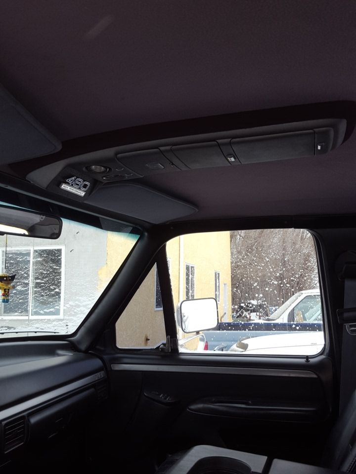 993 F350 New Upper Console To Go With The All Black Interior Ford F250 Diesel Ford F150 Custom Ford Diesel