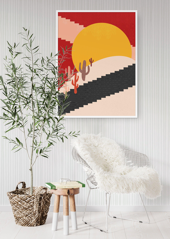 Modern Boho Desert Abstract Printable Wall Art Southwest ... on Modern Boho Wall Decor  id=71689