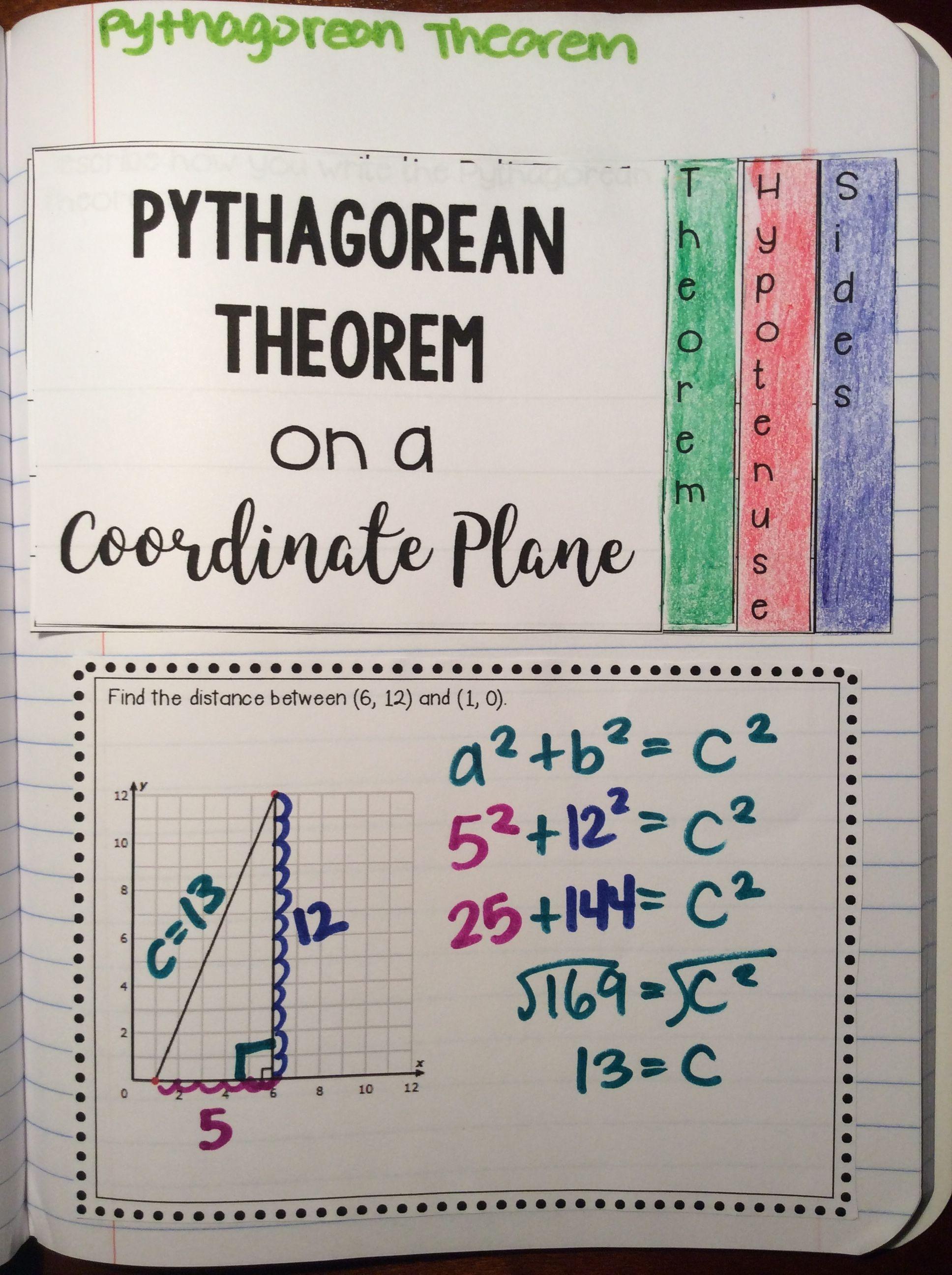 Pythagorean Theorem Interactive Math Notebook Activity No Prep Print Go Math Interactive Notebook Math Notebook Math Notebooks [ 2592 x 1936 Pixel ]