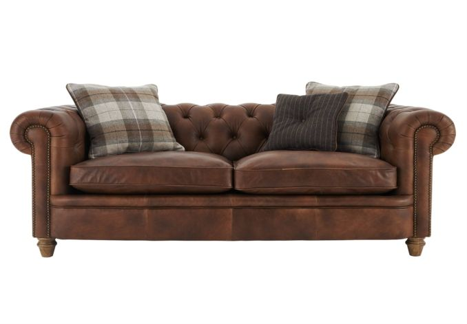 Furniture Village Idaho newport grand leather chesterfield sofa - new england leather