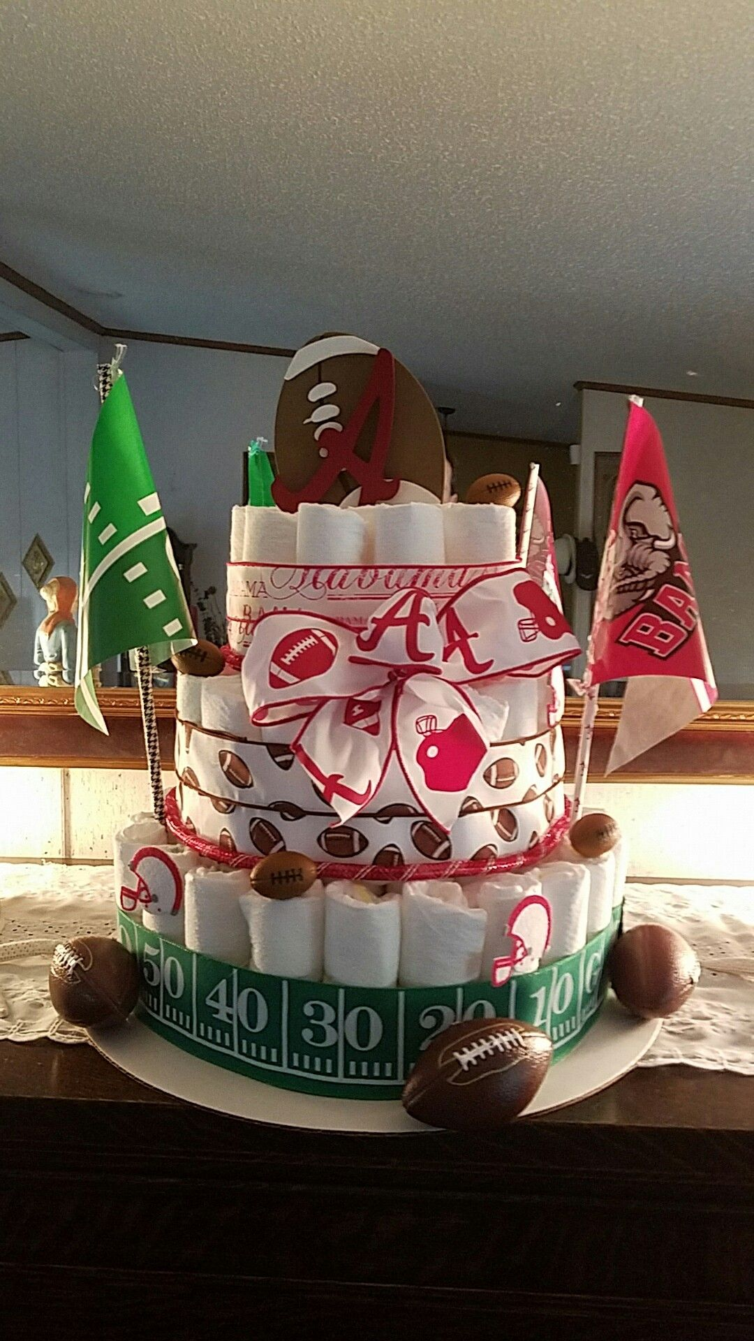 Alabama themed diaper Cakes. | Diaper cake, Tuscaloosa ...