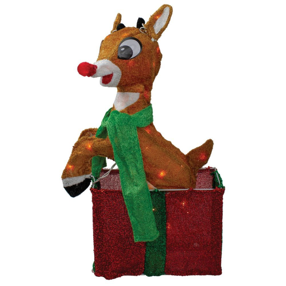 "Northlight 32/"" Rudolph Red-Nosed Reindeer Yukon Cornelius Christmas  Decor-Clear"