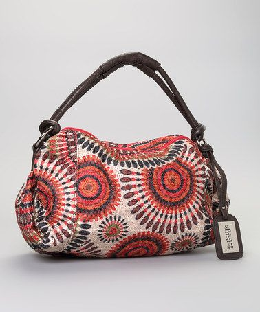 Red Fl Tribal Tote By Treska Slouch Bags Purses And Handbags Bag Accessories
