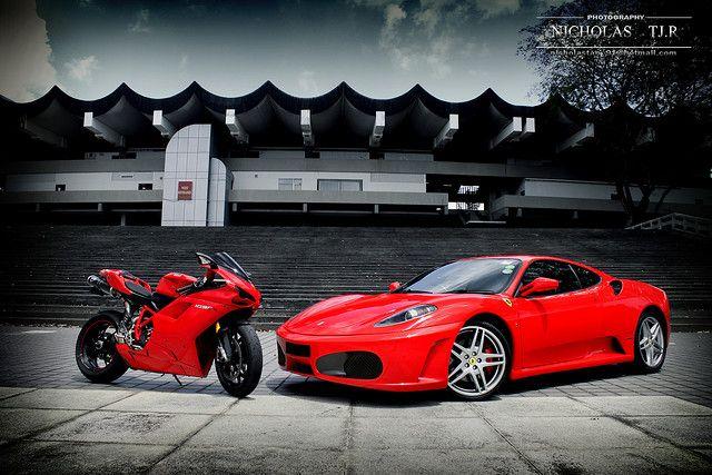 Ferrari F430 vs Ducati 1098s #ferrari #ducati