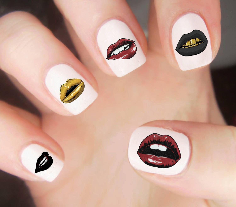 Lips nail decals kiss nail decals nail design ha