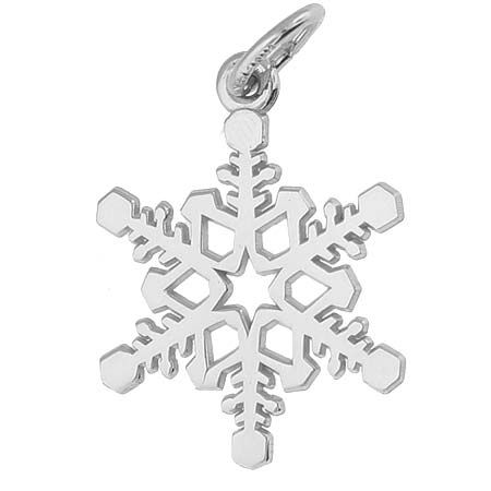 Snowflake Charm $26.50 http://www.charmnjewelry.com/search/sterling_silver_charms/Thanksgiving.htm #HolidayCharm  #CharmnJewelry  #SilverCharm