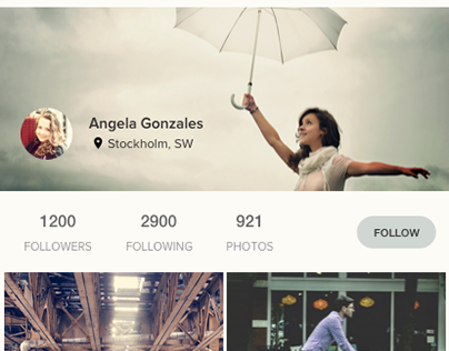 """Check out new work on my @Behance portfolio: """"Profile page"""" http://be.net/gallery/36435473/Profile-page"""