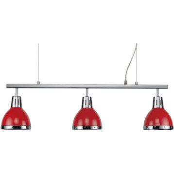 suspension cynthia, rouge, 3x60 watts, diam. 80 cm   leroy merlin
