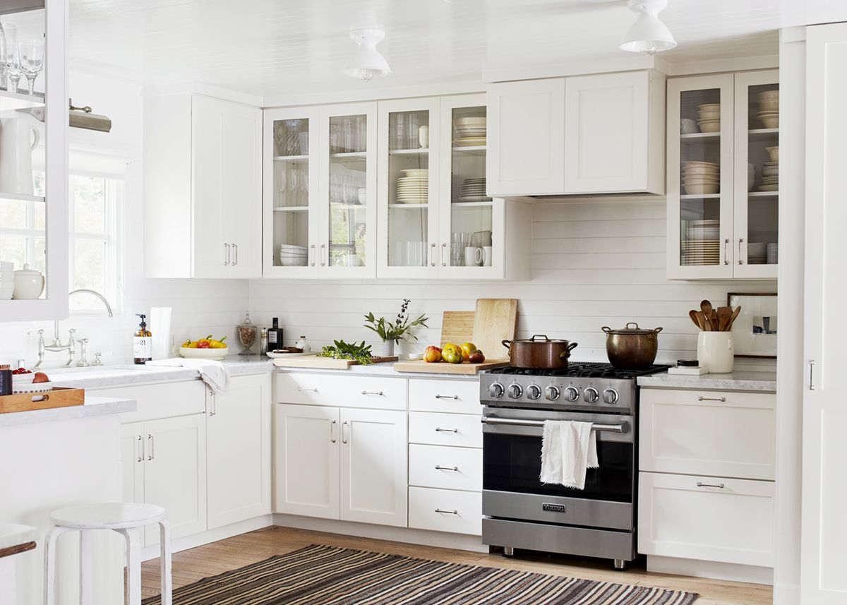 high gloss white ceilings in a fresh white kitchen   relaxed ranch ...