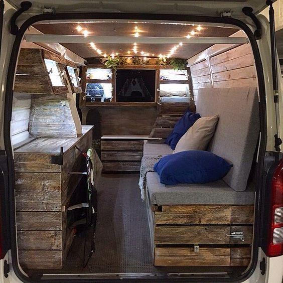 Van Grrrl Pinterest Van Conversion Interior T4 Camper Interior Ideas Camper Van
