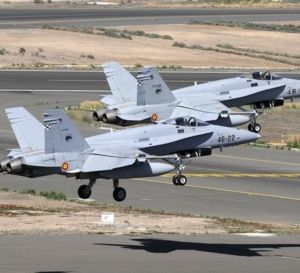 Une 1ère historique, des F-18 de l'armée de l'air espagnole déployés au Maroc