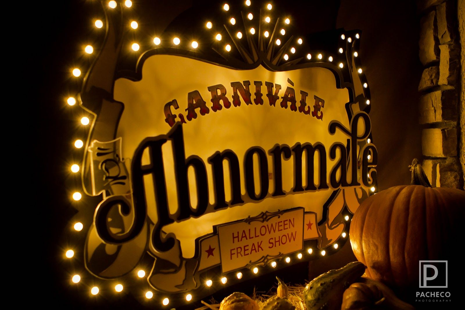 Entrance sign idea; carnival abnormal; light up sign; circus