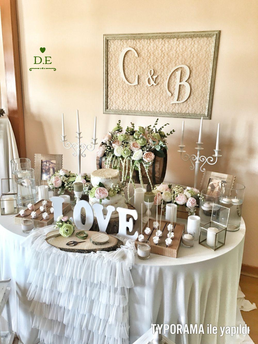 Engagement Table Wedding Dugun Masasi Gelin Partisi Dekorasyonlari Nisan