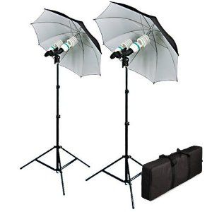 Cowboystudio 1200 Watt Photography Video And Portrait Studio Umbrella Continuous Lighting Kit With Four 85 Continuous Lighting Photo Studio Lighting Umbrella
