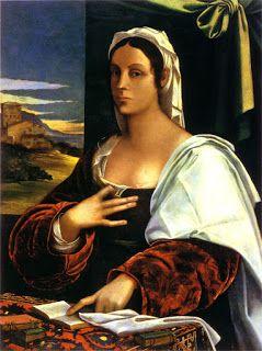 Sebastiano del Piombo, ritratto di Vittoria Colonna, conservato nel museo nazionale della Catalogna