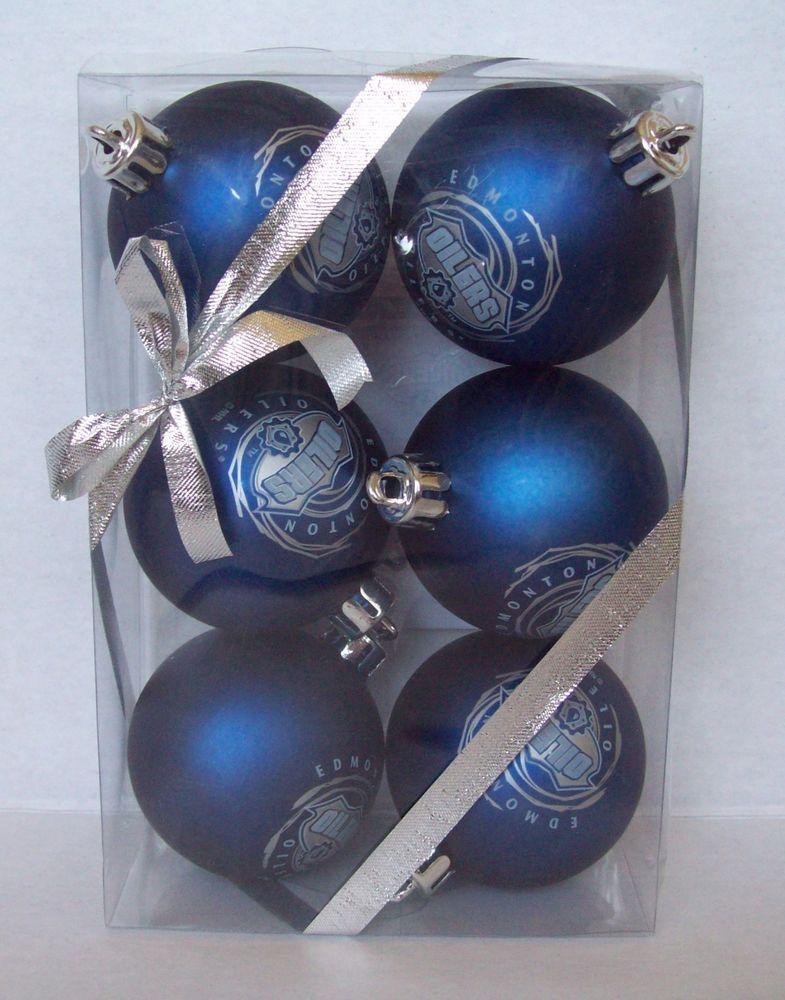 One Package NHL Ice Hockey Edmonton Oilers Blue Christmas ...