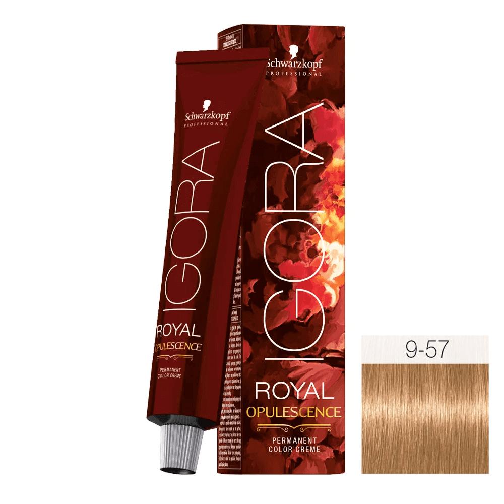 Royal Opulescence 9 57 Louro Extra Claro Dourado Cobre 60g Schwarzkopf Schwarzkopf Professional Hair Supplies
