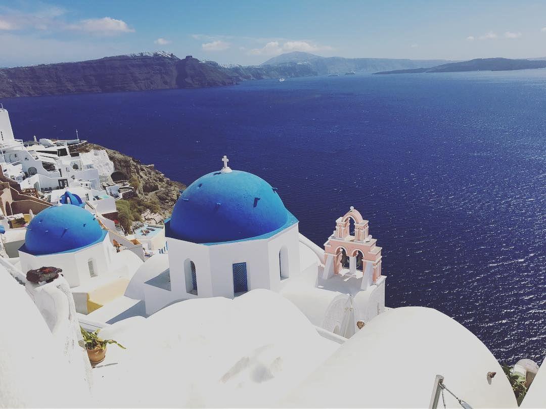 Santorini, Greece @roseliew on Instagram: 💙💙💙 . . . # ...
