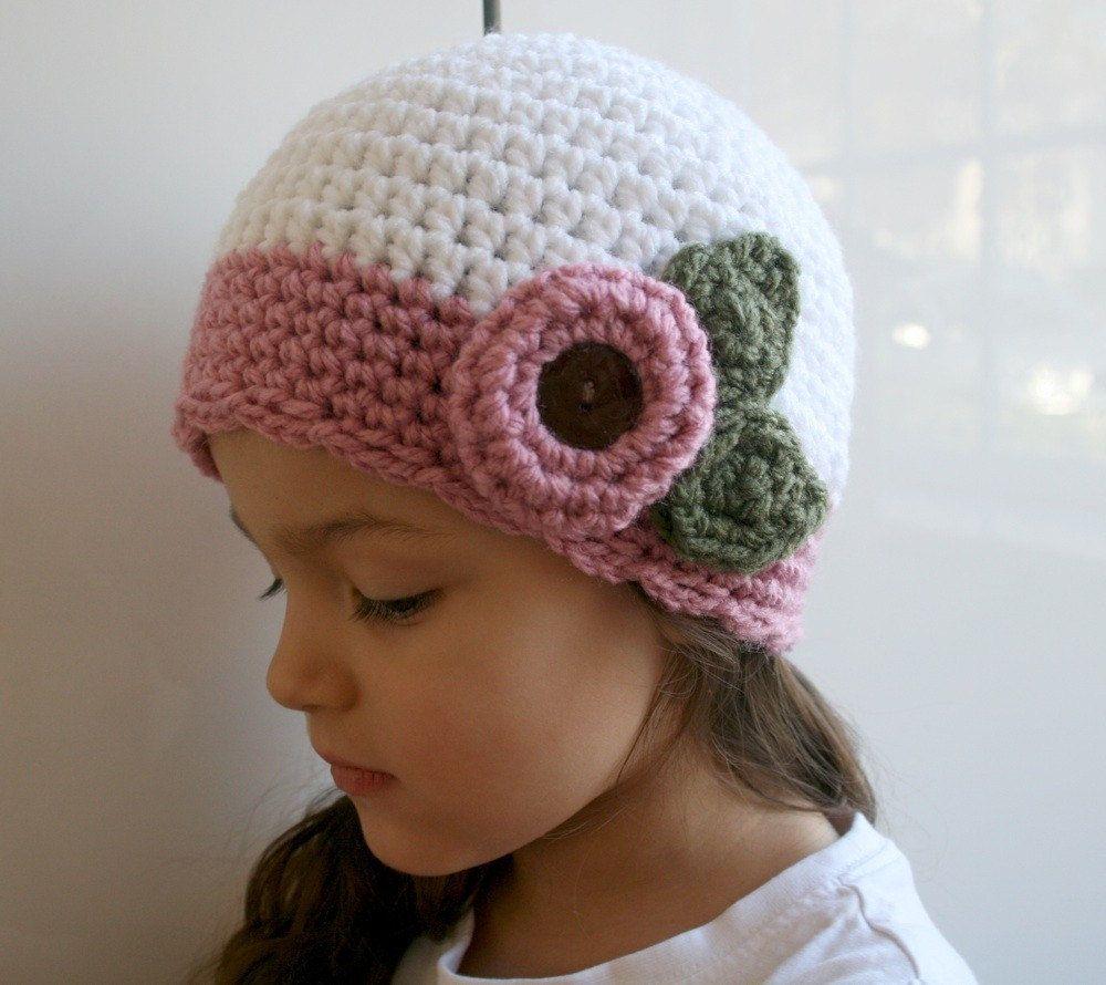 Crochet pattern, Crochet hat pattern, vintage crochet baby hat ...