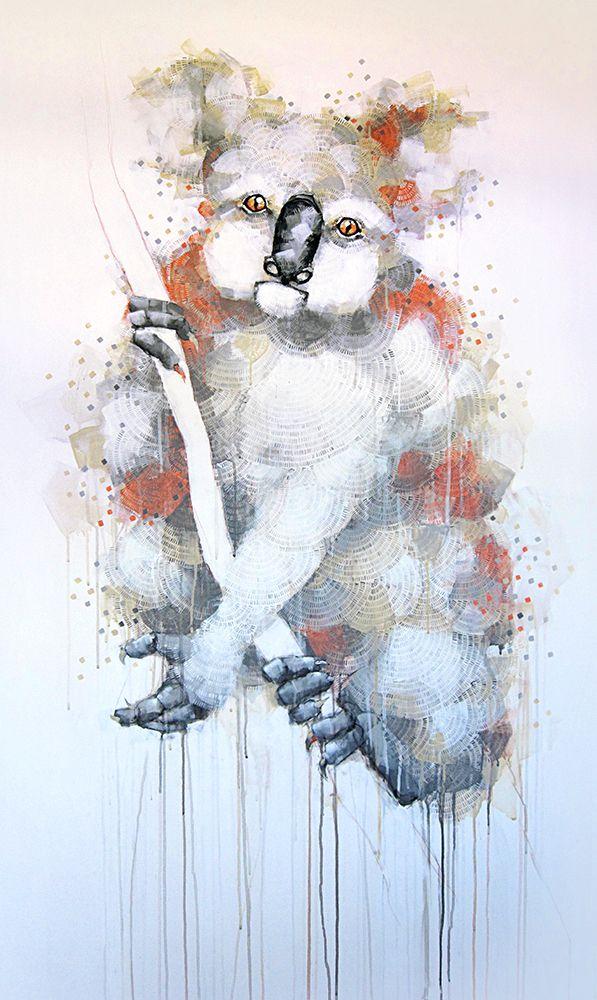 'Koala Climbing' painting by Michael Cain Gnashing Teeth