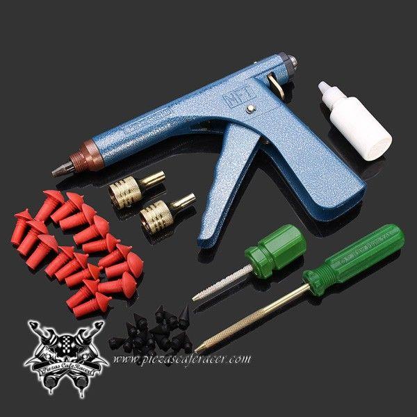 35 39 Envío Gratis Kit Completo De Reparación De Pinchazos En Neumáticos Tubeless Coche Moto Tire Repair Tire Repair Tools Bike Repair
