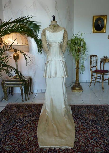 1912 Antique Wedding Dress, antique Bridal Gown, Edwardian Dress ...