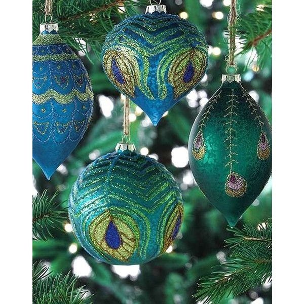 kim seybert peacock christmas tree skirt liked on polyvore featuring home home decor holiday decorations xmas kim seybert peacock tree skirt - Peacock Christmas Tree Skirt