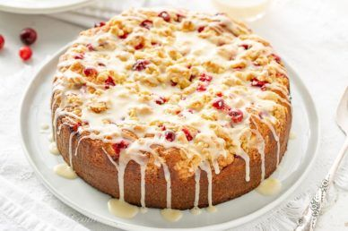 Photo of Cranberry Cake with Orange Glaze