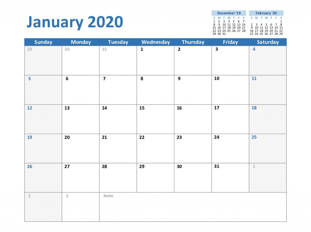 Free Blank January 2020 Calendar Printable Pdf Word Excel Calendar Printables January Calendar Printable Calendar Template