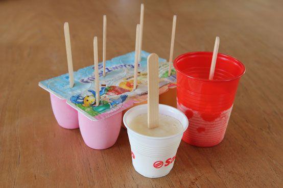 Super einfaches Joghurt-Bananen-Eis am Stiel